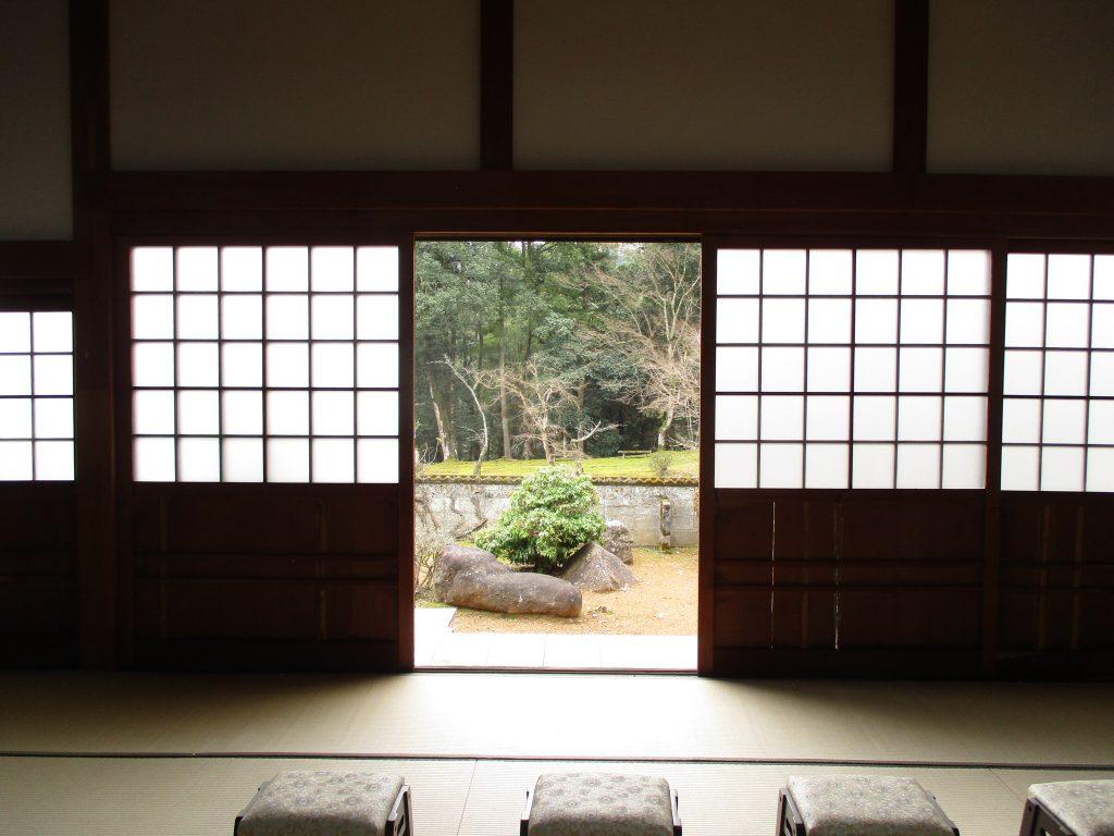 天寧寺(福知山)すりガラス