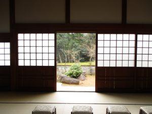天寧寺(福知山)-すりガラス